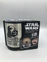 New W/Box Star Wars Feel The Force Stirring Mug Earth Vader