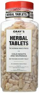 Gray's Herbal Tablets 2.72kg Jar - Original Traditional Sweets Full Jar Father's