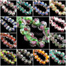 Rondelle Faceted Glass Rose Flower 8mm Inside Lampwork Beads Loose Spacer 10pcs