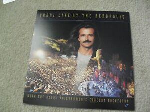 Original 1990s 12x12 Album Double Sided Promo Poster Yanni Live at Acropolis