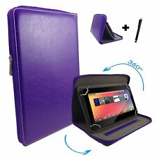 7 inch Case Cover Book For Prestigio MultiPad Wize 3147 Tablet Zipper 7'' Purple