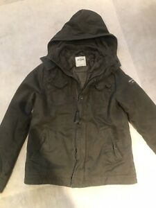 Abercrombie & Fitch Kids L Green Army Jacket Very Good Condition