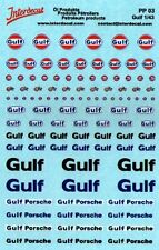 decal 1/43 MARCHI PETROLIFERI GULF VARI INTERDECAL PP03