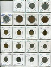 AL: Malta, Collection of 35 Different Coins, 1972 to 2008