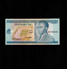 Congo 10 Makuta 1967 P-9a * AU-UNC *