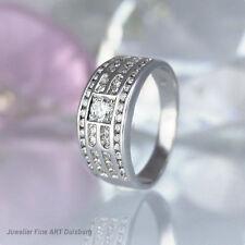 Anello in 750/- Oro Bianco-Con 53 diamanti 1,07 ct. Wesselton/VSI ottimo stato