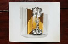 1960s French Interior Gouache Design Project depicting a Chinese Cabinet