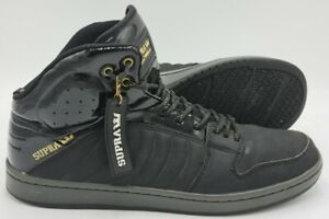 Supra S1W Stevie Williams Mid Leather Trainers S72018 Black/Gold UK8/US9/EU42.5