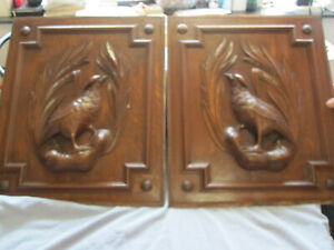 PAIR OFF ANTIQUES BLACK FOREST HUNTING PANELS