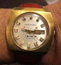 Vintage Rare Louis Rossel Neuchatel Automatic Gold Plated Watch Swiss Made