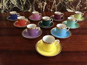 Reichenbach Colour Collection, 10 Espresso Cup With Saucers