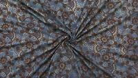 Indian Block Print Fabric Ajrakh Upholstery Fabrics Cotton Dress Making Fabric
