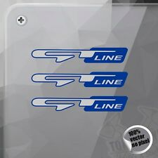 PEGATINA KIA GT LINE PICANTO CEED SPORTAGE BLUE STICKER AUFKLEBER AUTOCOLLANT