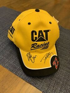 AUTOGRAPHED Nascar Dave Blaney CAT CATERPILLAR HAT Bill Davis RACING NWT New