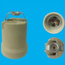 2x vis Edison E27 ES Douille en céramique AMPOULE M10 crochet support lampe