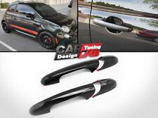 (2) Black Gloss Door Handles Cover Trim Set For 2007-up Fiat 500 500c Abarth