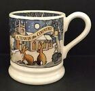 Emma Bridgewater Matthew Rice A Year In The Country Winter Scene Half Pint Mug