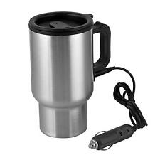 New 12v Heated Stainless Steel Thermos Car Travel Coffee Tea Cocoa Mug Cup 16oz