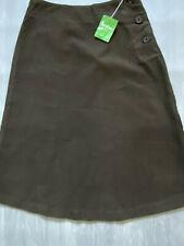 BODEN dark brown  moleskin     skirt  size 8L. NEW