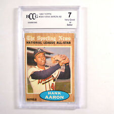 1962 Topps Hank Aaron #394 The Sporting News BGS BCCG 7