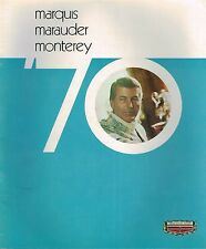Big 1970 Mercury MARQUIS / MARAUDER / MONTEREY Brochure / Catalog: X-100,Custom
