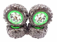 NEW TRAXXAS 1/10 SUMMIT CANYON AT TIRES & 17mm CHROME GEODE WHEELS GREEN 5607