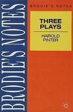 Pinter:  Three Plays :  Birthday Party ,  Caretaker  and  Homecoming by John...