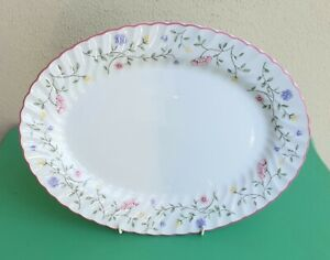 VINTAGE JOHNSON BROTHERS SUMMER CHINTZ FLORAL SERVING PLATTER MADE IN ENGLAND