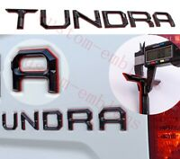 Double Layer Tailgate Insert Letters fits 2014-2021 Toyota Tundra (Black red )