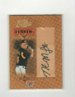 2005 Leather & Lumber Cuts Nate Mclouth Autograph #'d 166/256 Pittsburgh Pirates