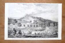 Eau-forte, Duplessis-Bertaux d'après Vernet, Bataille de Montebello (1800) XIXe.