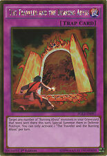 The Traveler and the Burning Abyss Gold Rare Yugioh Card PGL3-EN097