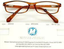 NEW MODERN OPTICAL BRAVE BROWN EYEGLASSES GLASSES PLASTIC FRAME 50-15-135mm