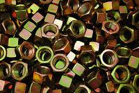 (50) 3/4-16 Grade 8 Hex Finish Nuts - Yellow Zinc Plated - Fine Thread