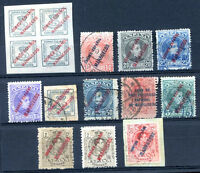 SPAIN MOROCCO 12 DIFFERENT STAMPS LOT VF