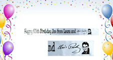 ELVIS PRESLEY PERSONALISED polyester RIBBON BANNER minimum order is only 1 metre