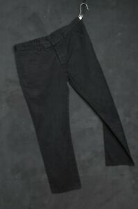 Dior Homme Men Pant 48 Chino Trouser W33 L30 Black Cotton Twill Casual Utility