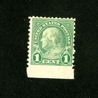 US Stamps # 598 F-VF OG NH Sheet Margin Scott Value $150.00