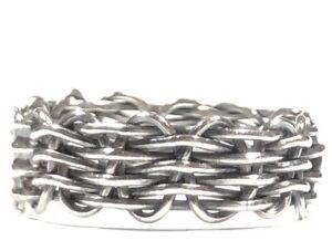 Vintage Ladies Sterling Silver Weave Design Ring - Size 5