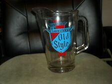 vintage Heilemans Old Style Lager Drinking Beer Heavy Glass La Crosse Wisconsin
