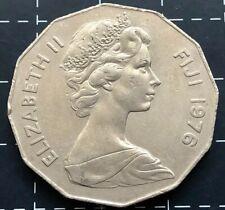 1976 FIJI FIFTY 50 CENT COIN - QUEEN ELIZABETH II QEII
