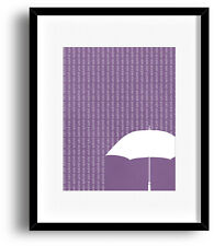 Classic Rock Song Lyric Music Artwork Print Poster Decor - Purple Rain by Prince