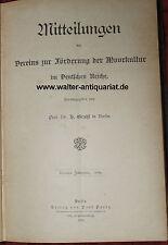 Mitteilungen des Vereins zur Förderung der Moorkultur 1891 Moor Hochmoor Moos...