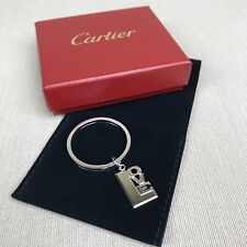 """Cartier Sterling Silver """"LOVE"""" Keychain / Pendant Vintage Authentic Key Ring Box"""