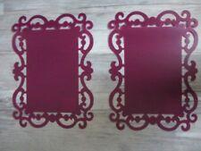 LOT DE 16 SETS DE TABLE LIE DE VIN  +  GRIS   44 X 32 cm