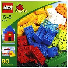 LEGO 6176 DUPLO Basic Bricks XL (80 Pcs.) Free Shipping with Tracking# New Japan