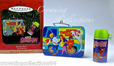 1999 Hallmark Scooby-Doo Lunch Box Set Thermos Keepsake Ornament Lunchbox Metal