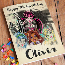 Monster High Personalised Birthday Card Free Shipping | Girls Daughter Niece