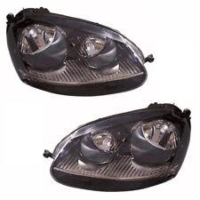 For VW Golf Mk5 Gti 10/2003-2009 Headlights Lamps Black 1 Pair O/S & N/S