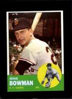 1963 TOPPS #61 ERNIE BOWMAN NM GIANTS  *XR19687